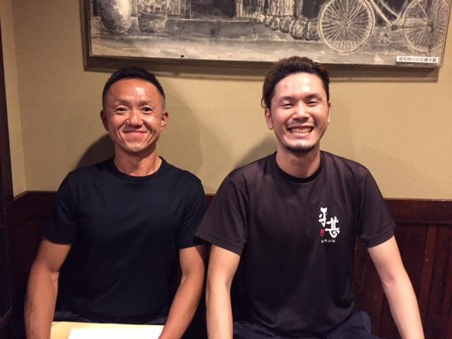 左から大畑社長、参加者の佐田さん